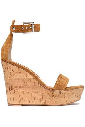 GIANVITO ROSSI Suede platform wedge sandals