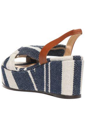 CASTAÑER Knotted canvas platform sandals
