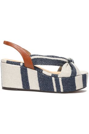 CASTAÑER Knotted canvas platform sandals