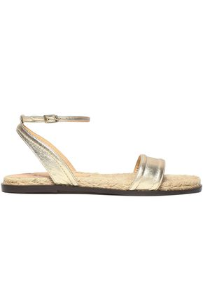CASTAÑER Metallic leather sandals