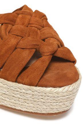 CASTAÑER Knotted suede espadrille wedge sandals