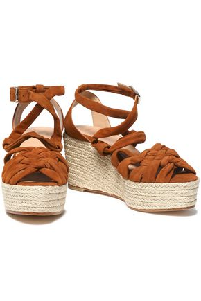 9070bf9993 CASTAÑER Knotted suede espadrille wedge sandals