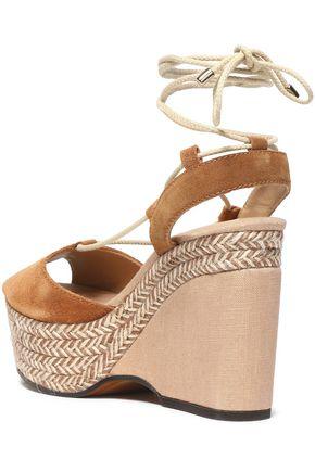 CASTAÑER Suede platform sandals