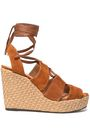 CASTAÑER Suede wedge sandals