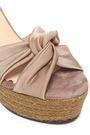 CASTAÑER Twist-front satin platform sandals
