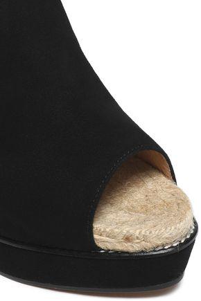 CASTAÑER Suede espadrille wedge sandals