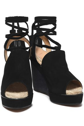 CASTAÑER Suede espadrille wedge sandals