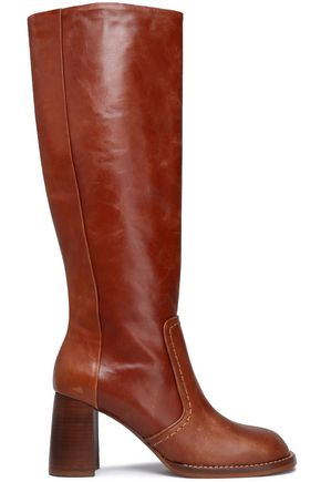 JOSEPH Moroder burnished-leather boots
