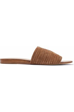 RAG & BONE Cameron striped suede slides