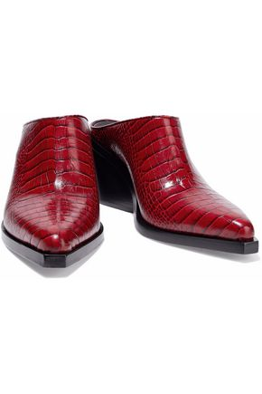 RAG & BONE Croc-effect leather mules
