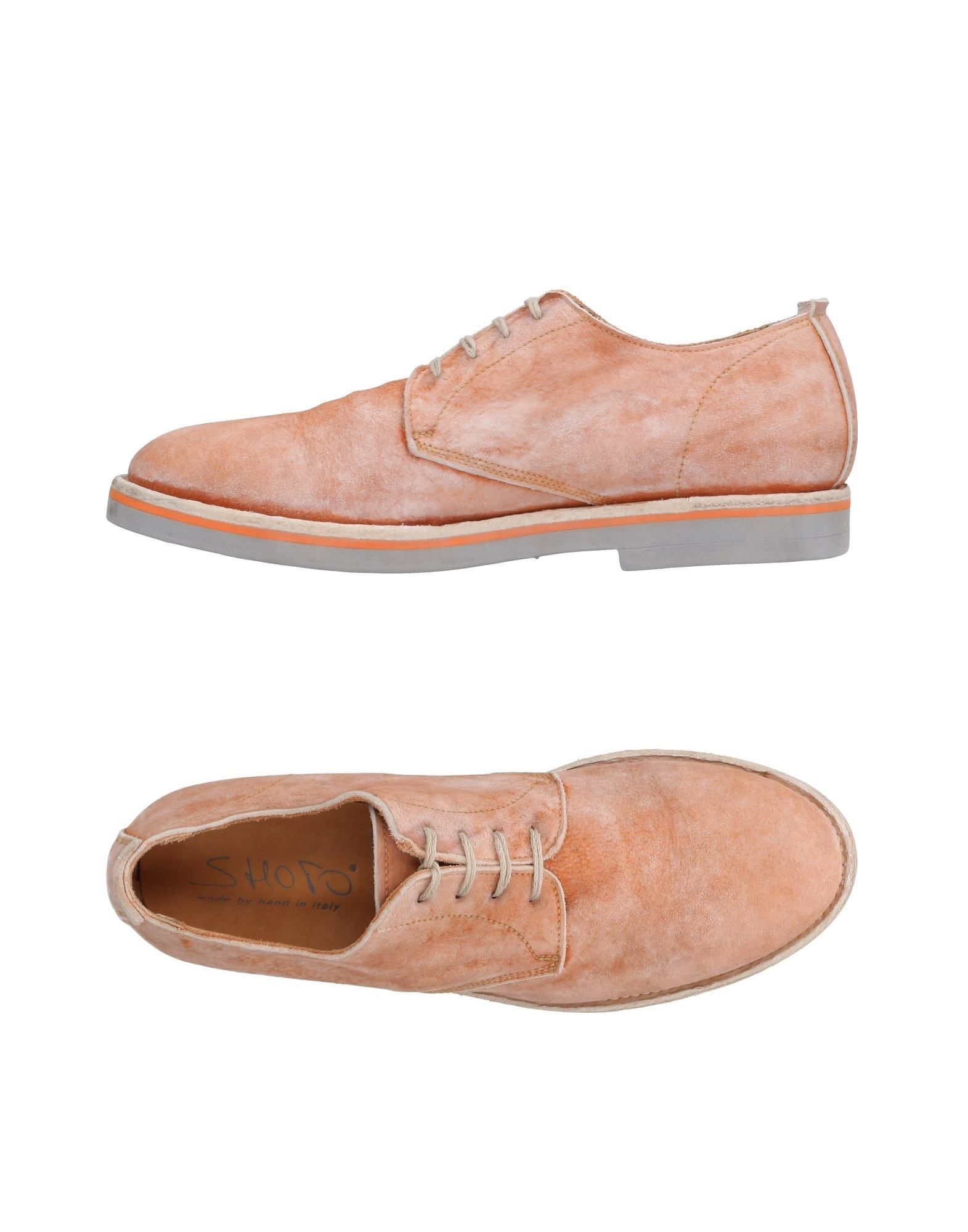 SHOTO Lace-Up Shoes in Pale Pink