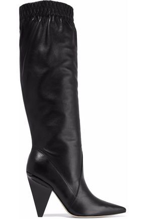 SIGERSON MORRISON Jay gathered textured-leather knee boots