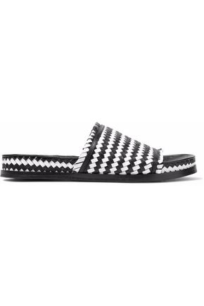SIGERSON MORRISON Aoven woven leather slides