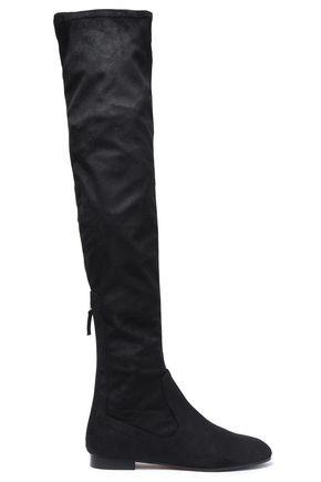 AQUAZZURA Suede thigh boots