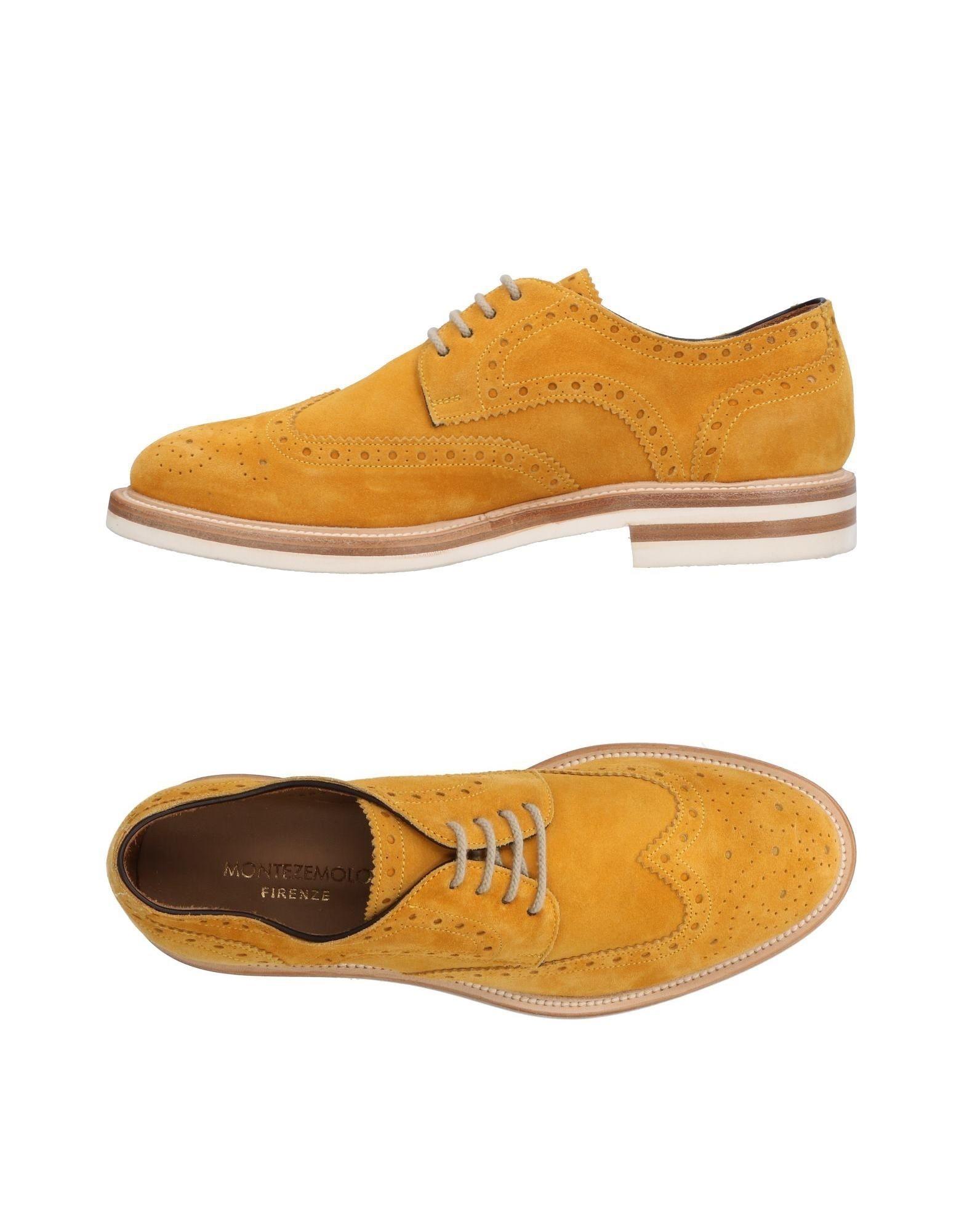 MONTEZEMOLO Laced Shoes in Ocher