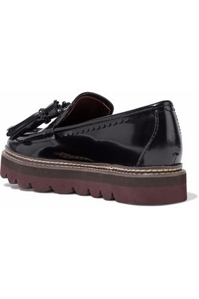 559a9e0a52c ... SEE BY CHLOÉ Tasseled glossed-leather platform loafers