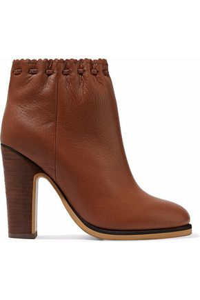 SEE BY CHLOÉ Jane textured-leather ankle boots