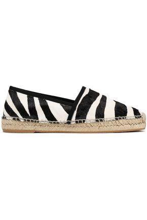 MARC JACOBS Zebra-print calf hair espadrilles