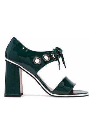 REDValentino Eyelet-embellished patent-leather sandals