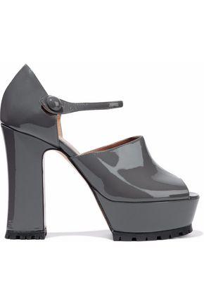 REDValentino Patent-leather Mary Jane platform sandals