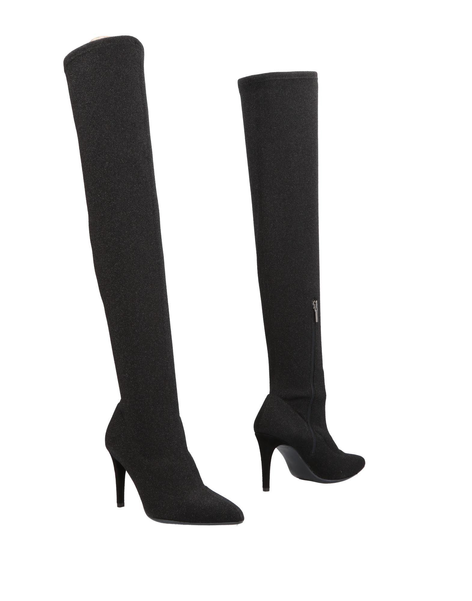 《送料無料》DANIELE ANCARANI レディース ブーツ ブラック 38 紡績繊維