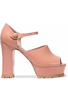 RED(V) Patent-leather Mary Jane platform sandals