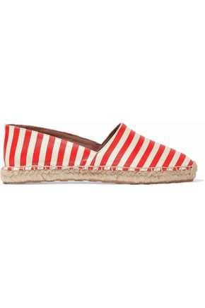 RED(V) Striped leather espadrilles