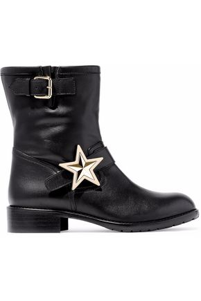 REDValentino Embellished leather ankle boots