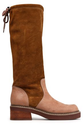 SEE BY CHLOÉ Paneled suede boots