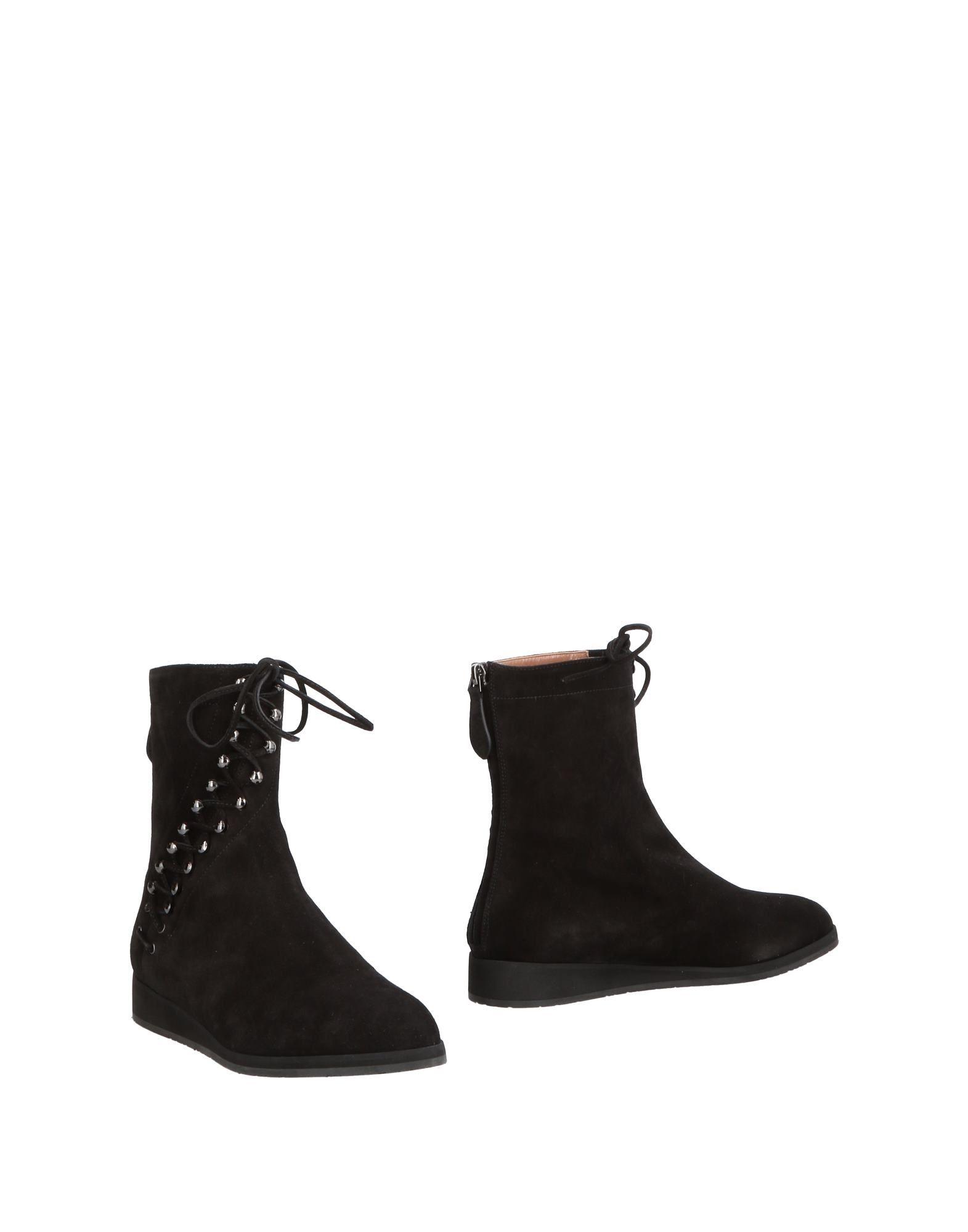ALAÏA Black Suede Lace-Up Ankle Boot