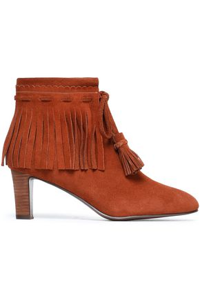 SEE BY CHLOÉ Fringe-trimmed suede ankle boots