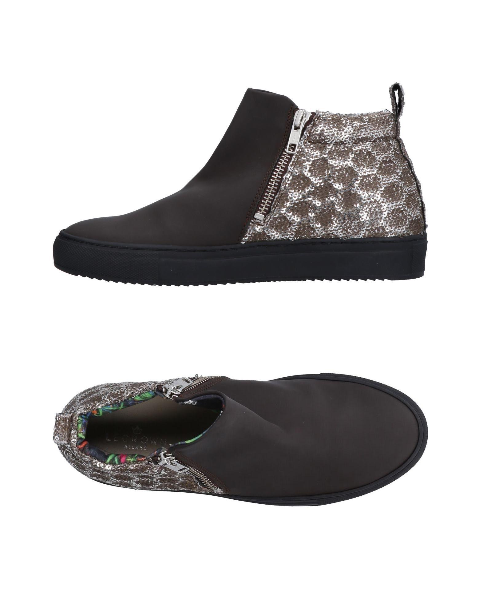 LE CROWN Высокие кеды и кроссовки кеды кроссовки высокие женские dc evan hi le brown dark chocolate