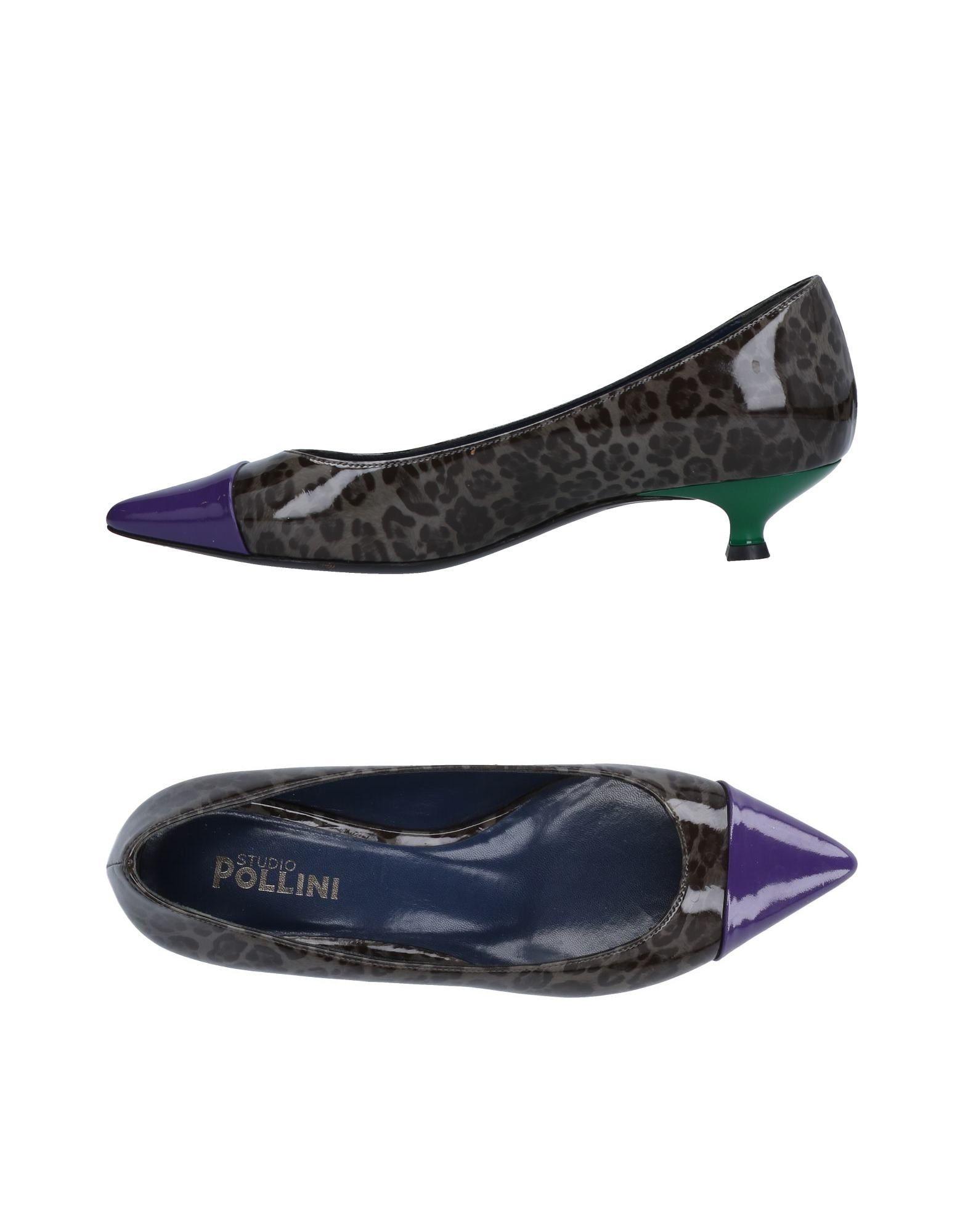 STUDIO POLLINI Туфли туфли studio w klingel цвет зеленый серебристый рисунок