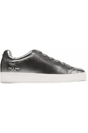 RAG & BONE RB1 metallic textured-leather sneakers
