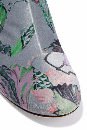 RAG & BONE Printed velvet ankle boots