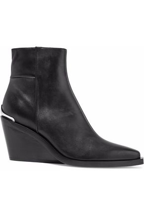 RAG & BONE Santiago leather wedge ankle boots