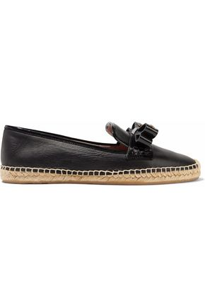 REDValentino Bow-embellished leather espadrilles