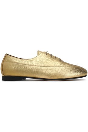 NEWBARK Metallic leather flats