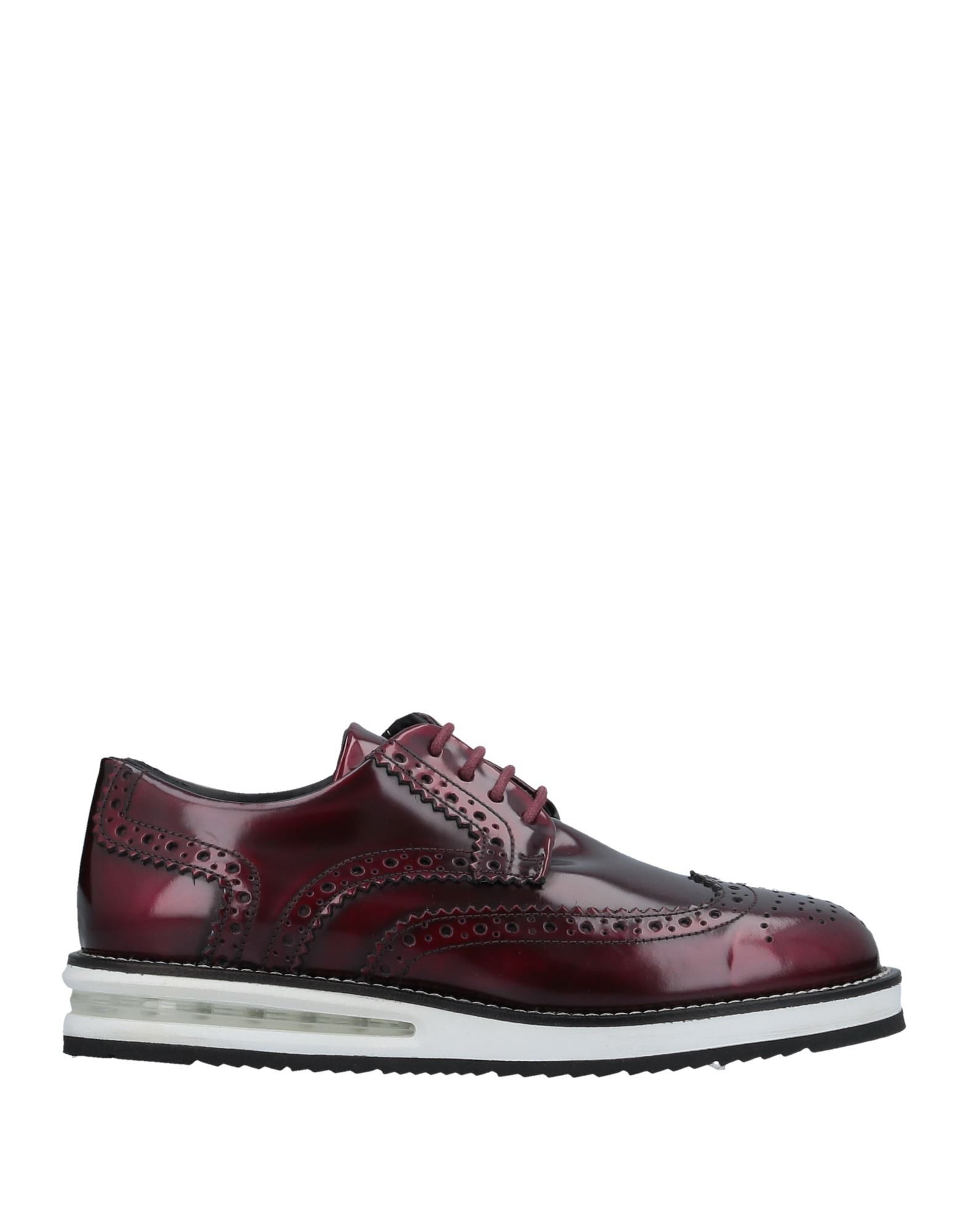 BARLEYCORN Laced Shoes in Maroon