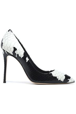 two tone snake effect leather pumps giuseppe zanotti sale up to rh theoutnet com