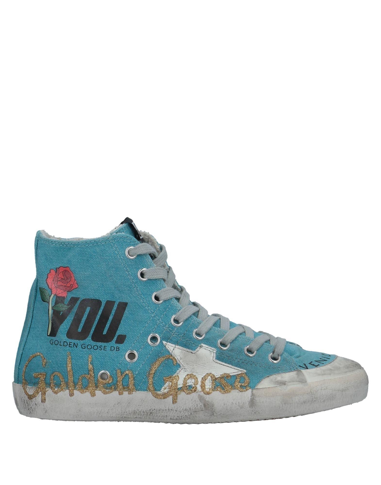 golden goose deluxe brand calzado sneakers abotinadas azul celeste f1277d7c84d