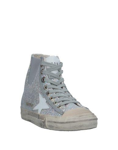 Фото 2 - Высокие кеды и кроссовки серебристого цвета