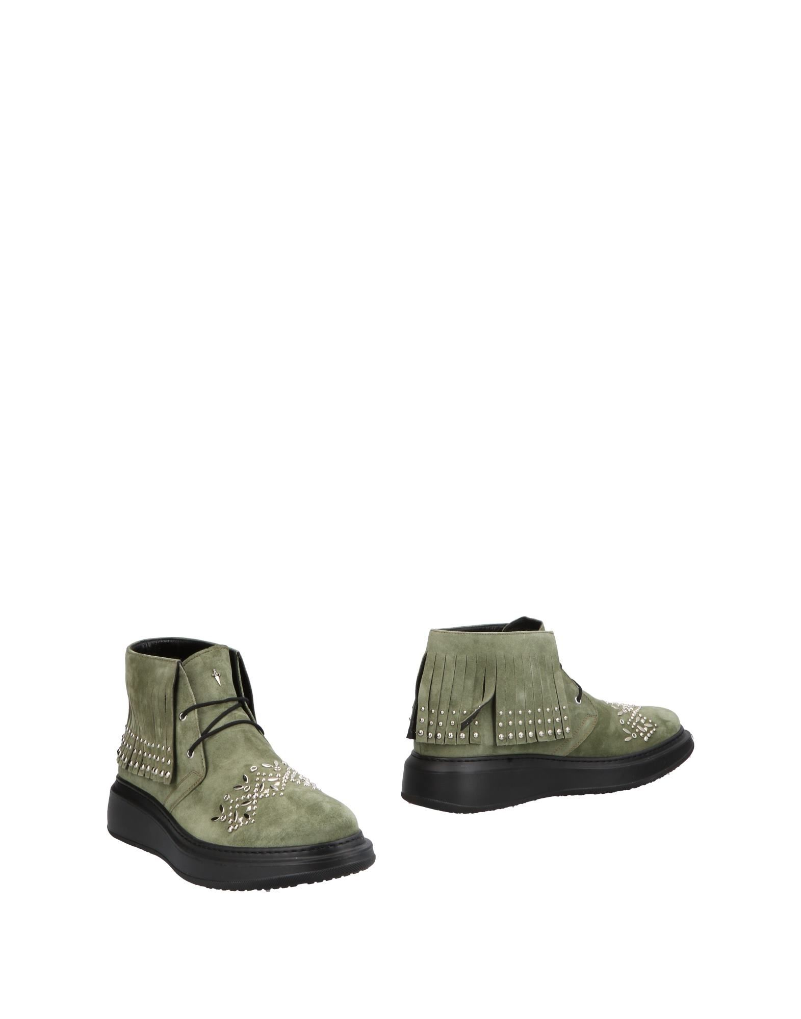 CESARE PACIOTTI Ankle Boots in Military Green