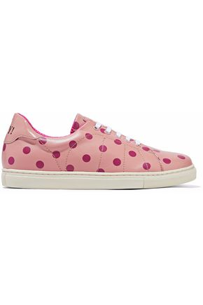 REDValentino Polka-dot leather sneakers