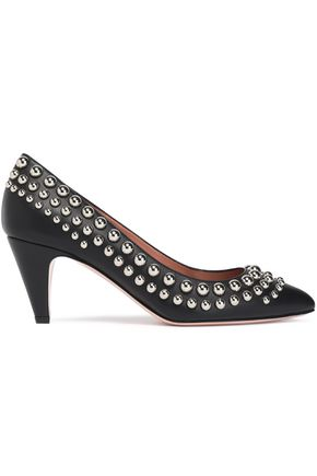 REDValentino Studded leather pumps