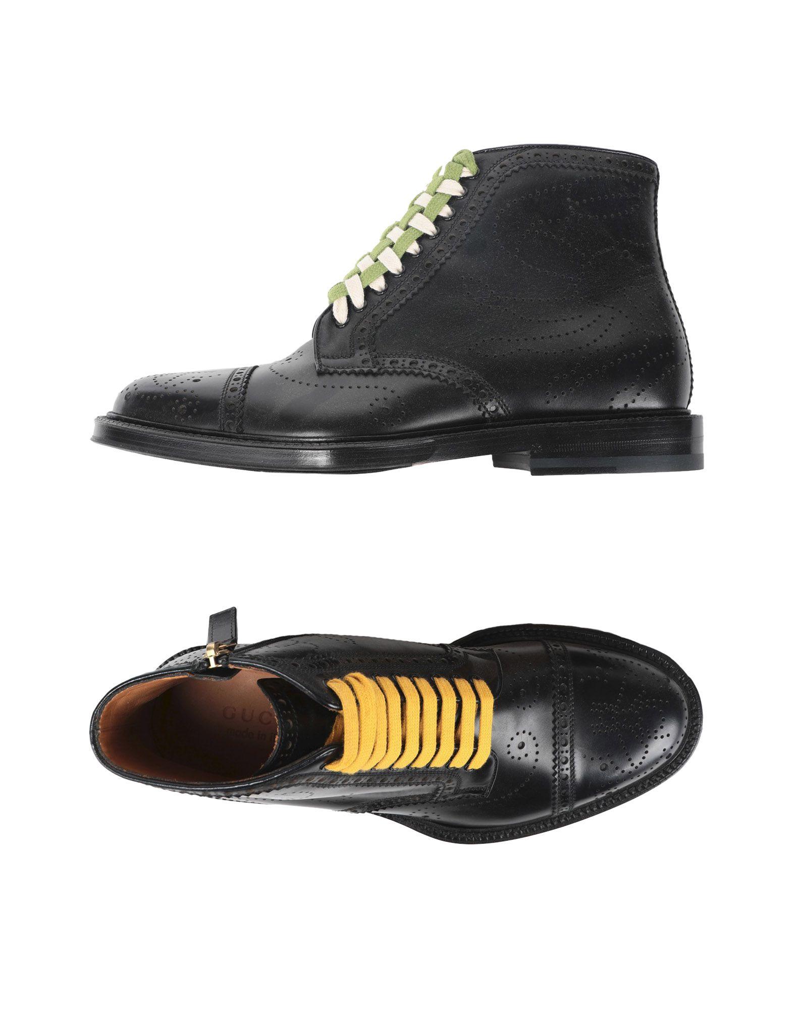 GUCCI Полусапоги и высокие ботинки gucci босоножки из текстурированной кожи
