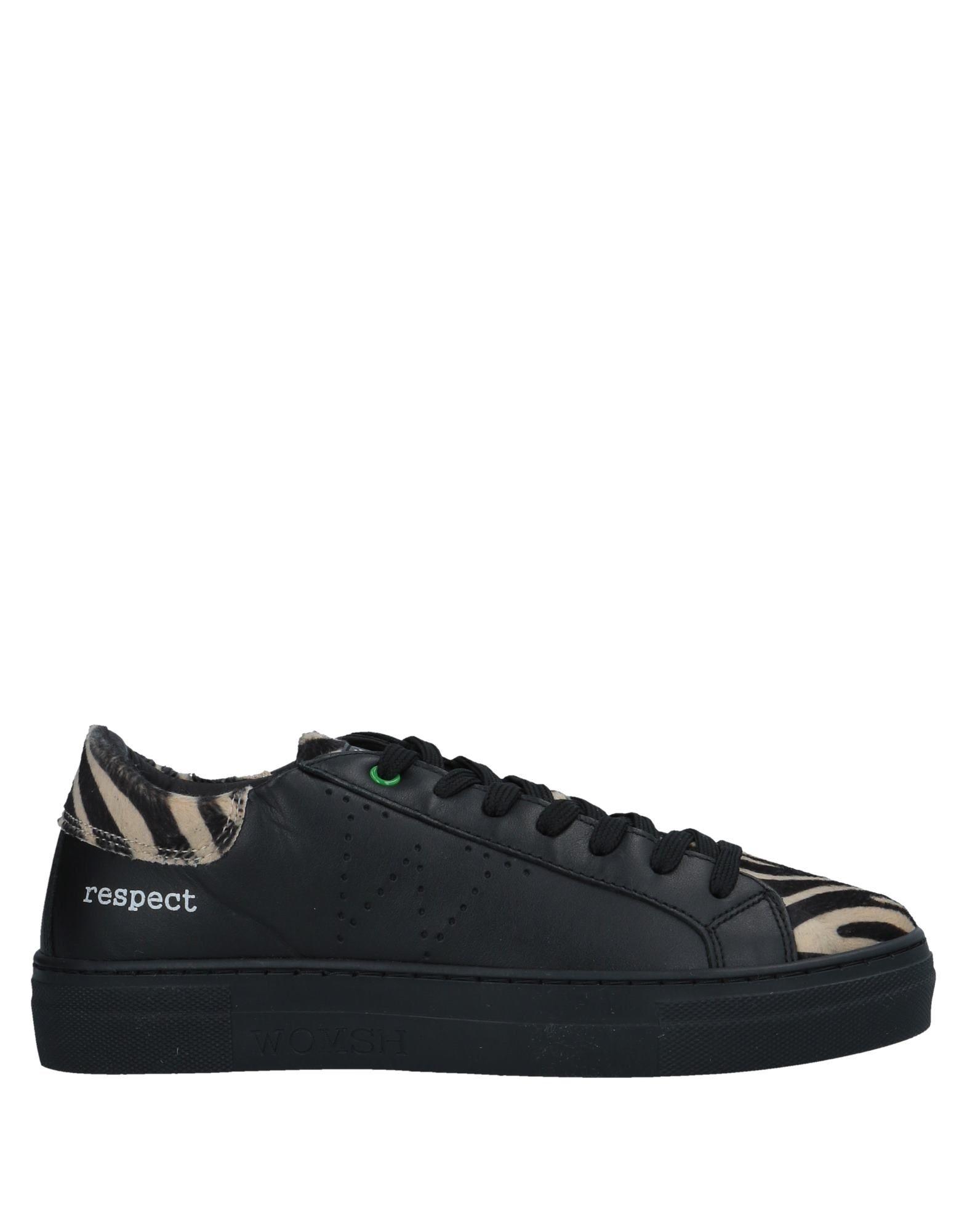 《送料無料》WOMSH レディース スニーカー&テニスシューズ(ローカット) ブラック 36 革 / 紡績繊維