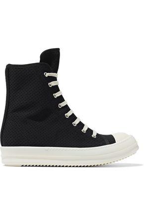 DRKSHDW by RICK OWENS Perforated neoprene high-top sneakers