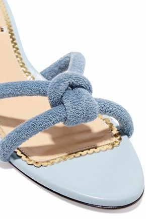 CHARLOTTE OLYMPIA Knotted terry mules