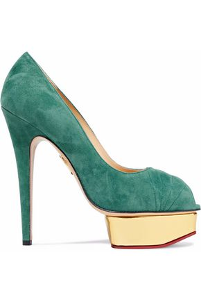 9d99f9a6aa CHARLOTTE OLYMPIA Daryl suede platform pumps